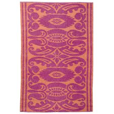 India Mauve & Rust Outdoor Area Rug