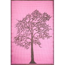 Tree Brown / Pink Rug