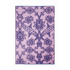 Fuchsia Flower Lavender Outdoor Rug