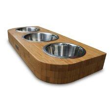 Bambu Pet Diner Triple Bowl