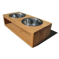 Bambu Pet Diner Double Bowl