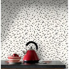 Contour Checker Tiles Foiled Wallpaper