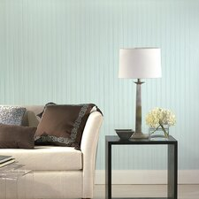 Paintable Prepasted Beadboard Stripes Texture Wallpaper