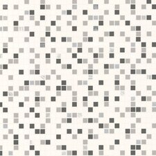 <strong>Graham & Brown</strong> Contour Checker Tiles Foiled Wallpaper