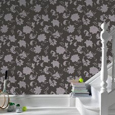 Laurence Llewelyn Bowen Silk Floral Botanical Wallpaper