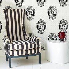Barbara Hulanicki Antoinette Figural Flocked Wallpaper