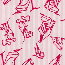 Barbara Hulanicki Flock Shoes Flocked Wallpaper
