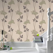 Serenity Serene Floral Botanical Wallpaper