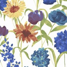 Summer Bloom Floral Botanical Wallpaper
