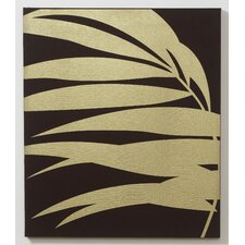 Gold Palm Fabric Wall Art