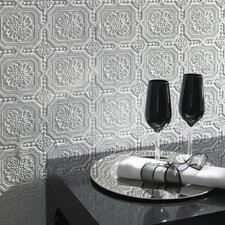 Paintable Small Squares Wallpaper in White