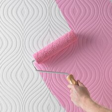 Paintable Curvy Geometric Wallpaper