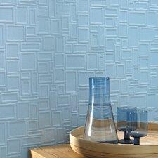 Paintable Squares Wallpaper in White
