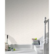 Paintable Summer Wallpaper in White