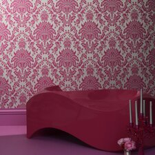 Elizabeth Damask Flocked Wallpaper