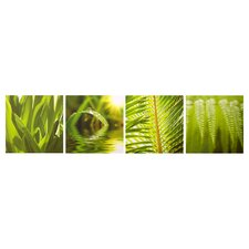 Leaf Quad Canvas (Set of 4)