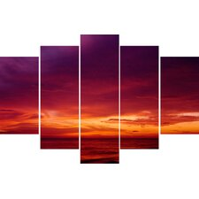 Graham and Brown Drama Sunset 5 Piece Photographic Print on Canvas Set