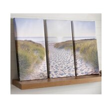 Graham and Brown Beach Walk Photographic Print on Canvas (Set of 3)