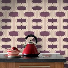 Contour Kitchen and Bath Groovy Geometric Wallpaper