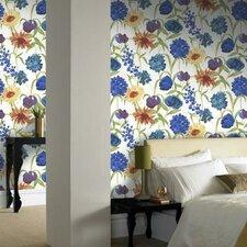 Summer Bloom Floral Botanical Wallpaper
