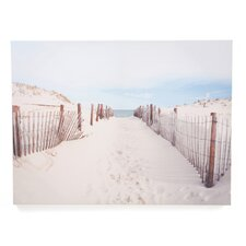 "Walk To The Beach Printed Canvas Art - 24"" X 32"""