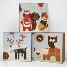 <strong>Graham & Brown</strong> Forager Canvas Blocks (Set of 3)