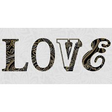 Sequined Loved Canvas Wall Art