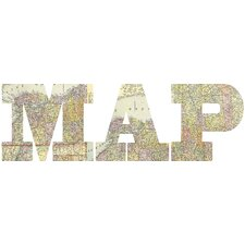 Map Letters Wall Art