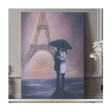 <strong>Graham & Brown</strong> Kissing In Paris Canvas Wall Art