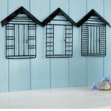Beach Huts Metal Art
