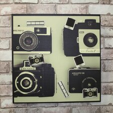 Graham and Brown Camera Magnetic Graphic Art on Canvas
