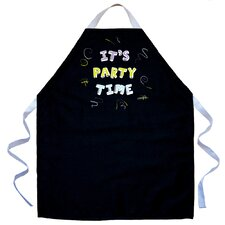 It's Party Time Apron in Black