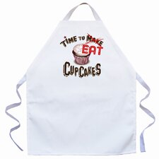 Time to Eat Apron in Natural
