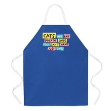 Cats Are Like Potato Chips Apron in Royal