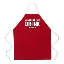 All Great Chefs Apron in Red
