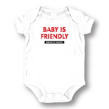 <strong>Attitude Aprons by L.A. Imprints</strong> Baby is Friendly Baby Romper