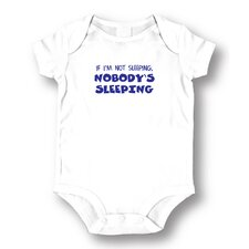 <strong>Attitude Aprons by L.A. Imprints</strong> Nobody's Sleeping Baby Romper