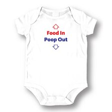 Food In Poop Out Baby Romper