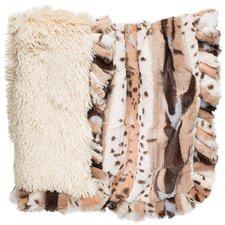 Light Fancy Leopard Shag Dog Cuddle Blanket