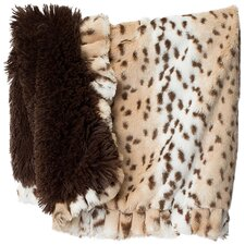 Snow Leopard Shag Dog Cuddle Blanket