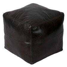 Moroccan Leather Square Pouf