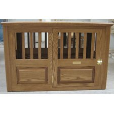 Solid Mahogany Pet Crate