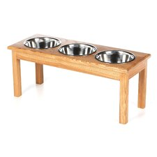 3 Bowl Traditional Style Pet Diner