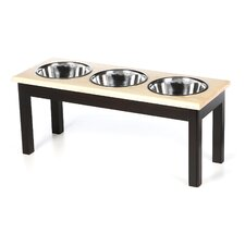 <strong>Classic Pet Beds</strong> 3 Bowl Traditional Style Pet Diner