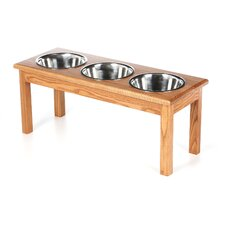 3 Bowl Traditional Style Pet Diner (1 quart)