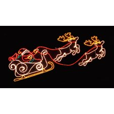 Reindeer Sleigh LED Rope Light