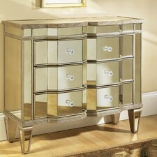 Marquis Mirrored 3 Drawer Accent Chest