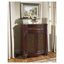 Artistic Expression Hand Painted 1 Drawer 2 Doors Accent Chest
