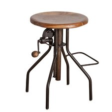 Adjustable Bar Stool with Hand Crank