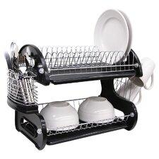 2 Tier Plastic Dish Drainer